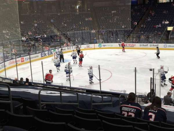 Nationwide Arena, section: 104, row: S, seat: 14