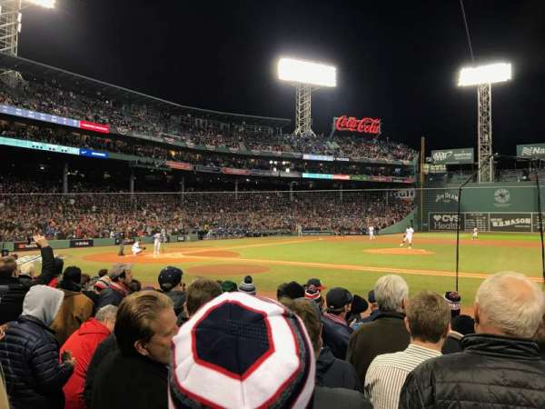 Fenway Park, section: Field Box 27, row: J, seat: 1
