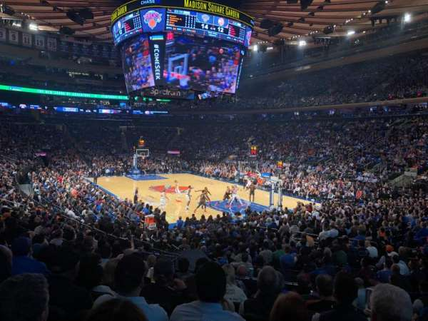Madison Square Garden, section: 110, row: 13, seat: 19