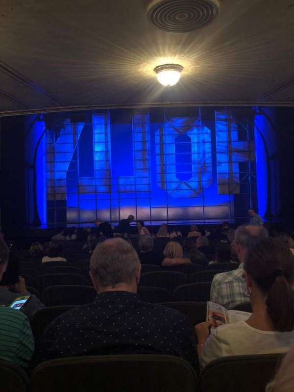 Nederlander Theatre, section: Orchestra C, row: P, seat: 108