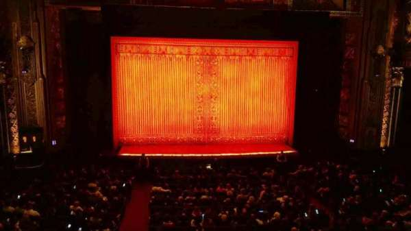 Hollywood Pantages Theatre, section: Mezzanine Center , row: A, seat: 112