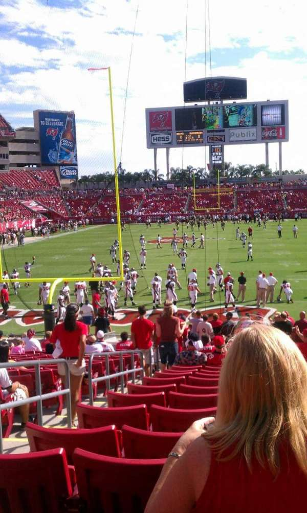 Raymond James Stadium, section: 149, row: Z, seat: 3