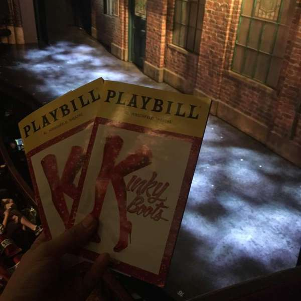 Al Hirschfeld Theatre, section: Right Box, row: A, seat: 1