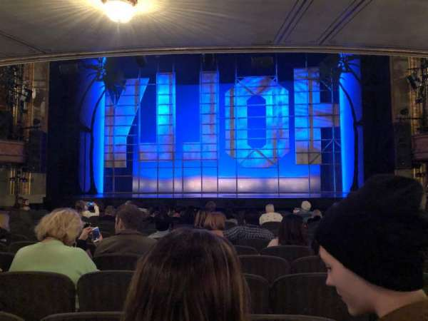 Nederlander Theatre, section: ORCH, row: O, seat: 105