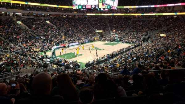 Fiserv Forum, section: 109, row: 26, seat: 10