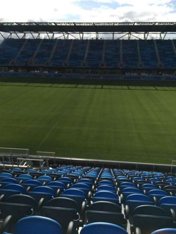 PayPal Park, section: 107, row: 15, seat: 8