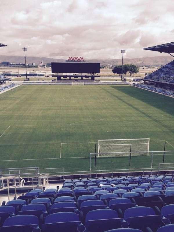 Earthquakes Stadium, section: 117, row: 17, seat: 16