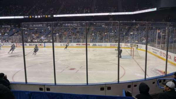 Citizens Business Bank Arena, section: 102, row: F, seat: 5