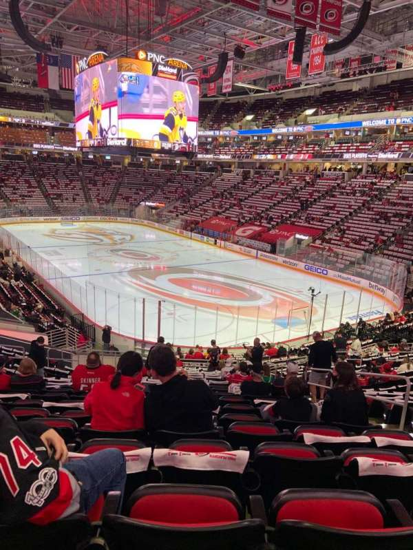 PNC Arena, section: 114, row: XX, seat: 4