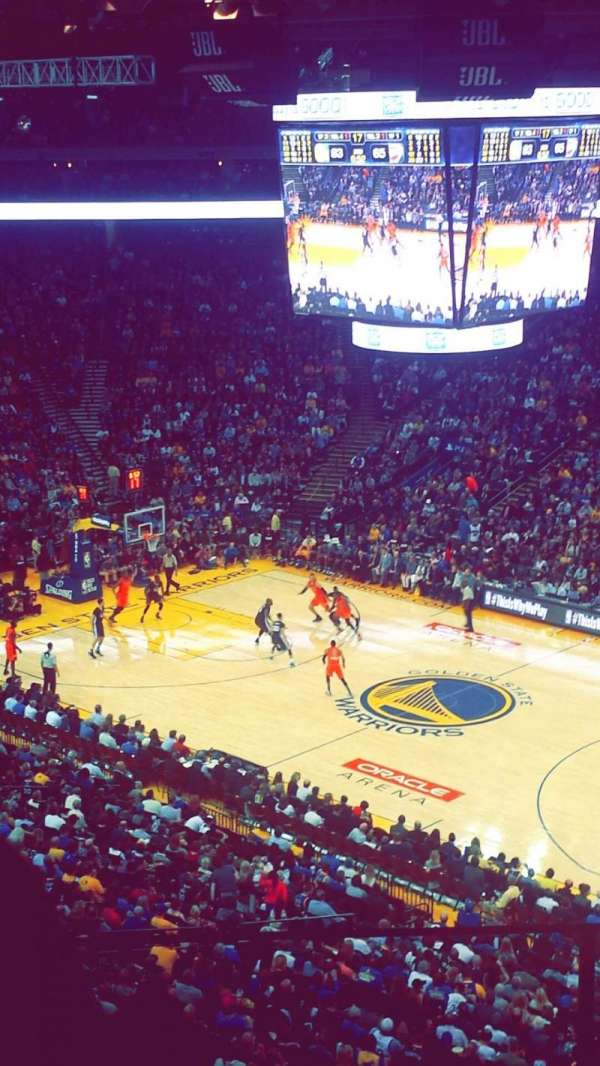 Oracle Arena, section: 213, row: 4, seat: 6