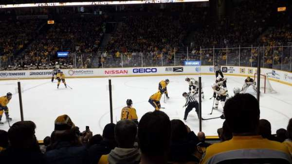 Bridgestone Arena, section: 107, row: 5, seat: 8