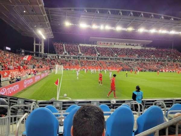 BMO Field, section: 111, row: 2, seat: 1