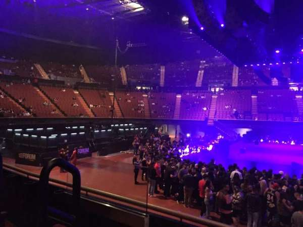 The Forum, section: 108, row: 2, seat: 9