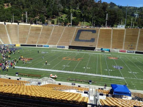 California Memorial Stadium, section: GG, row: 37, seat: 1