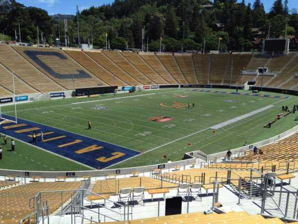 California Memorial Stadium, section: D, row: 47, seat: 19