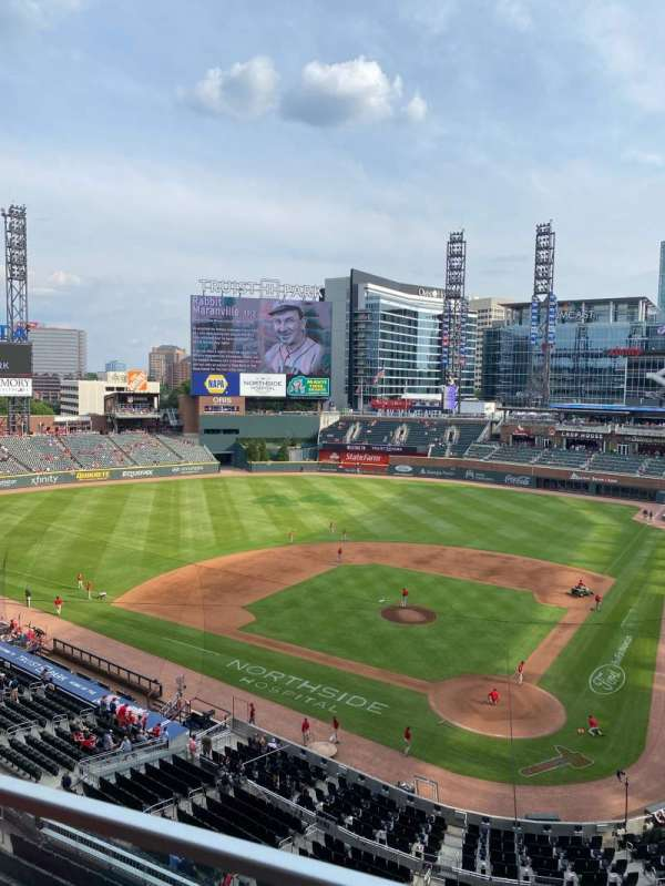 Truist Park, section: 328, row: 1, seat: 7