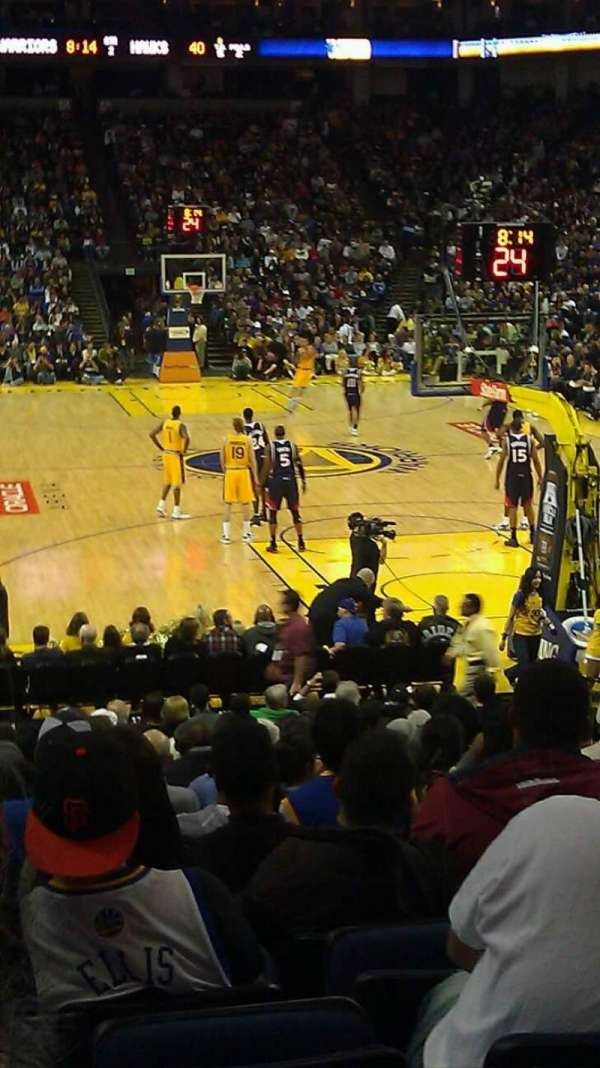 Oracle Arena, section: 122, row: 14, seat: 14