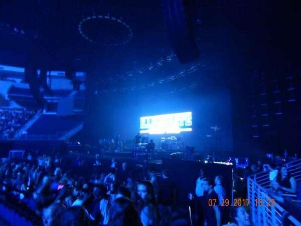 Infinite Energy Arena, section: 107, row: c, seat: 4