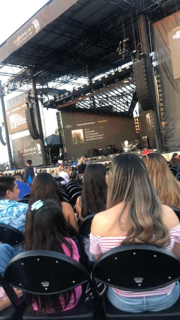 FivePoint Amphitheater, section: Orchestra 2, row: 20, seat: 9