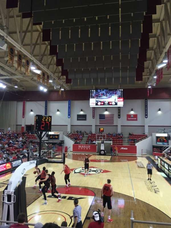 John M. Belk Arena, section: 1, row: F, seat: 1