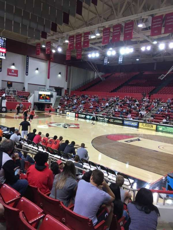 John M. Belk Arena, section: 4, row: F, seat: 3