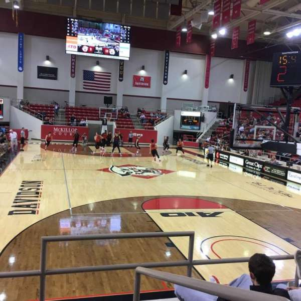 John M. Belk Arena, section: 2, row: F, seat: 1