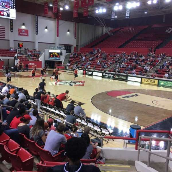 John M. Belk Arena, section: 4, row: D, seat: 1