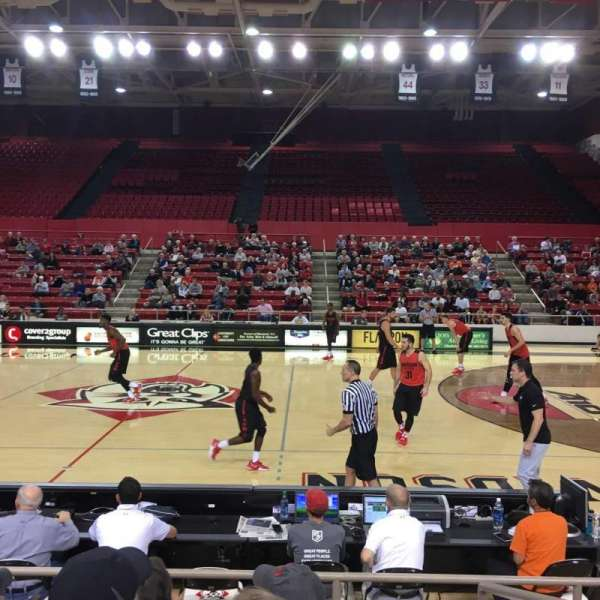 John M. Belk Arena, section: 10, row: B, seat: 1