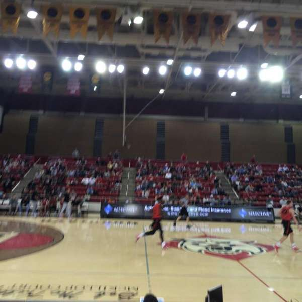 John M. Belk Arena, section: 11, row: F, seat: 1