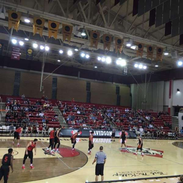 John M. Belk Arena, section: 7, row: C, seat: 3