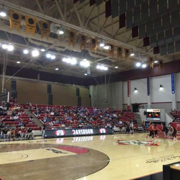 John M. Belk Arena, section: 5, row: D, seat: 2