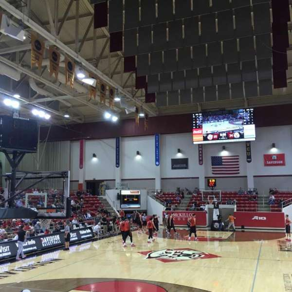 John M. Belk Arena, section: 3, row: E , seat: 1