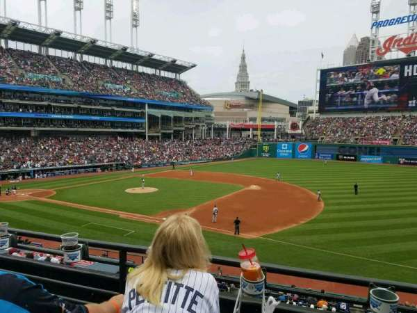 Progressive Field, section: 336, row: B, seat: 7