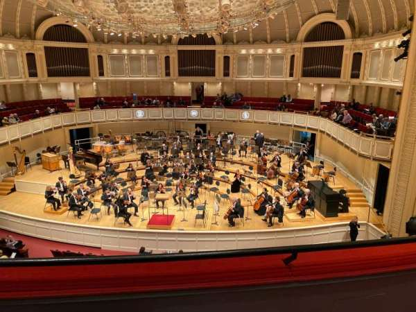 Orchestra Hall (Chicago), section: Lower Balcony Center Right, row: B, seat: 110