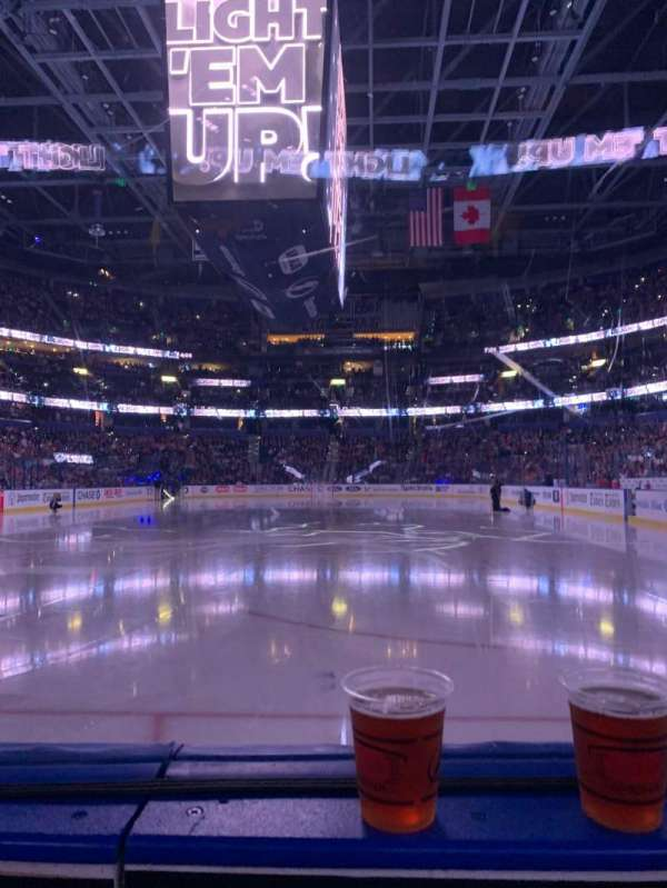 Amalie Arena, section: 108, row: A, seat: 4