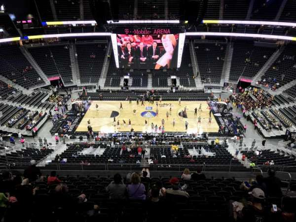 T-Mobile Arena, section: 205, row: M, seat: 20