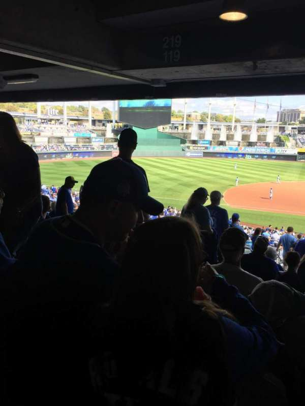 Kauffman Stadium, section: 221, row: SS, seat: 4