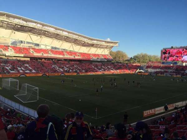 Rio Tinto Stadium, section: 24, row: T, seat: 20