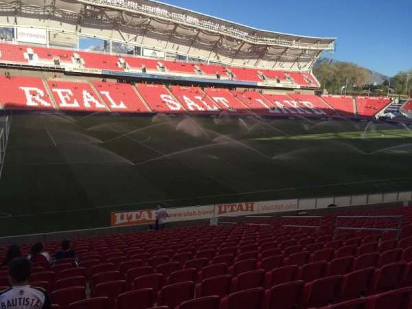 Rio Tinto Stadium, section: 23, row: U, seat: 13
