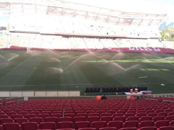 Rio Tinto Stadium, section: 21, row: V, seat: 18