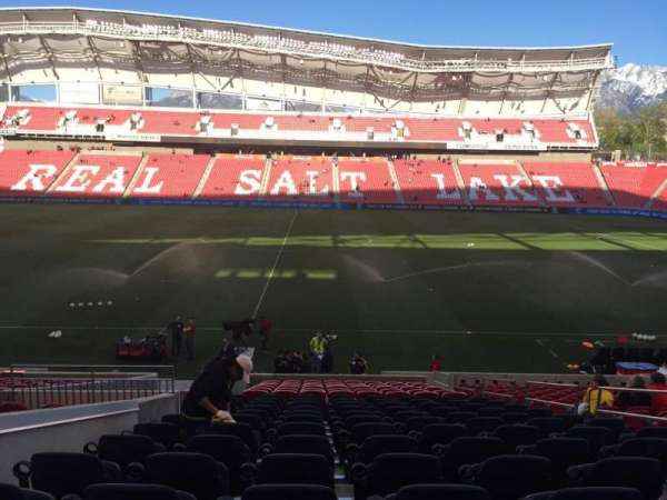 Rio Tinto Stadium, section: 19, row: V, seat: 6