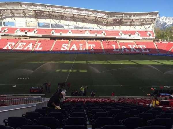 Rio Tinto Stadium, section: 19, row: V, seat: 6