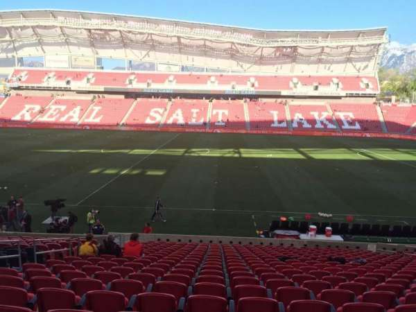 Rio Tinto Stadium, section: 18, row: V, seat: 14