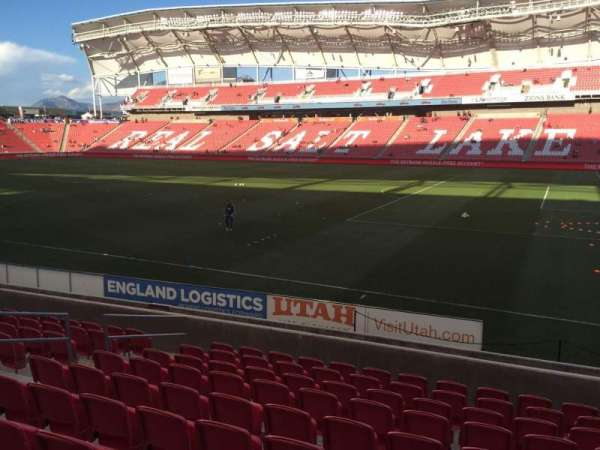 Rio Tinto Stadium, section: 15, row: M, seat: 16