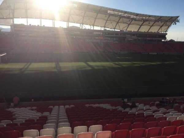 Rio Tinto Stadium, section: 4, row: X, seat: 16