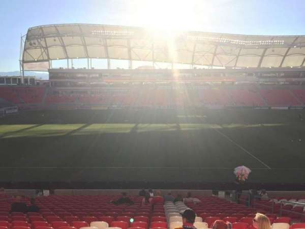 Rio Tinto Stadium, section: 2, row: W, seat: 8