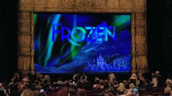 Hollywood Pantages Theatre, section: ORCHESTRA C, row: X, seat: 110