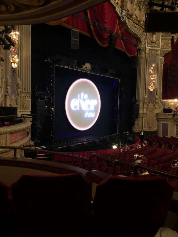Oriental Theatre, section: Dress Circle L, row: CC, seat: 7