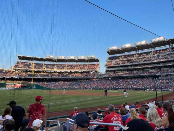 Nationals Park, section: 111, row: H, seat: 3