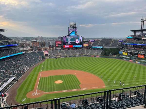 Coors Field, section: U325, row: 12, seat: 21